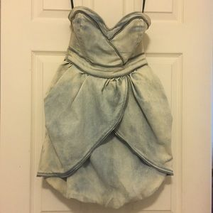 GUESS Strapless Denim Dress